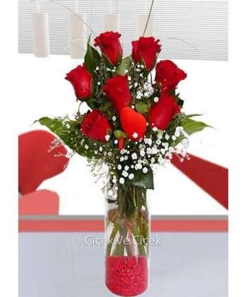 Aşk 7 Kırmızı Gül