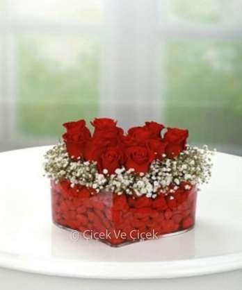 Kalp İçi Kırmızı Güller
